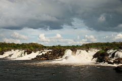 Cachamay rapids. On the Caroni River near the mouth of the Orinoco, ciudd Guayana, Venezuela royalty free stock photos
