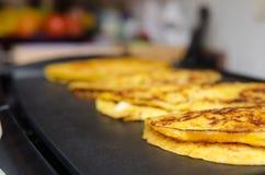 Cachapa, typisches venezolanisches Lebensmittel Lizenzfreies Stockfoto