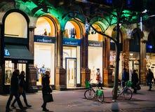 Cacharel fasion商店在中央史特拉斯堡 免版税库存图片