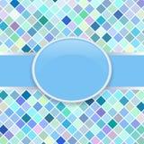 Cache bleu d'art de bruit rétro Images stock
