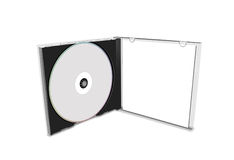 Cache CD blanc photographie stock