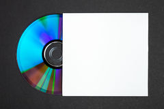 Cache CD et blanc Photographie stock