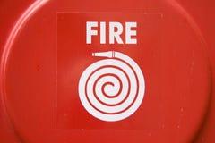 Cache de bouche d'incendie de secours Photographie stock