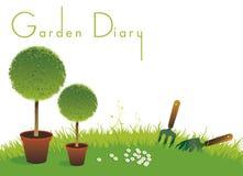 Cache de jardinage d'agenda Illustration de Vecteur