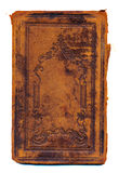 Cache de livre antique grunge et âgé d'isolement photographie stock libre de droits