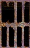 Cache de trou d'homme de réseau Photographie stock libre de droits