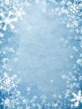 Cache de vacances avec des flocons de neige Photo libre de droits
