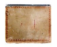Cache de vieux livre d'isolement sur le blanc Photos libres de droits