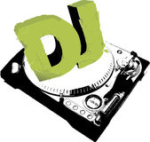 cache DJ Image stock