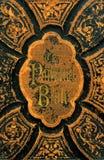 Cache en cuir d'une bible Images libres de droits