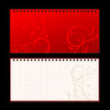 Cache et page de cahier pour votre conception Photographie stock libre de droits