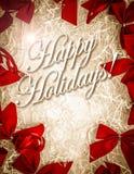 Cache heureux de cartes de vacances de cru Images stock