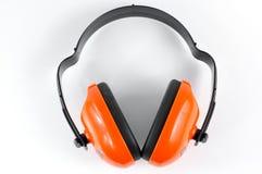 Cache industriel d'oreille d'isolement sur le fond blanc Photos stock