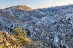 Cache la Poudre River Canyon Royalty Free Stock Image