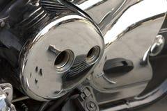 Cache latéral de moto Photo stock
