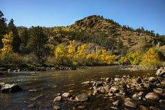 Cachela Poudre Fluss Stockfotos