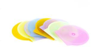 Caches en plastique de CD Photographie stock libre de droits