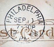 Cachet de la poste d'Américain de Philadelphie 1906 Photographie stock