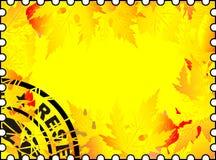 Cachet de la poste d'automne Photos stock