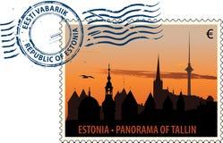 Cachet de la poste d'Estonie illustration libre de droits