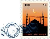 Cachet de la poste d'Istanbul Photographie stock