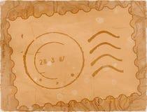 Cachet de la poste - vieux papier illustration de vecteur