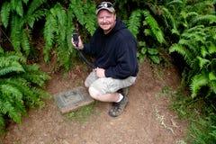 Cachette initiale Geocache Photo libre de droits