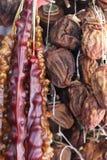 Cachi asciutti e Churchkhela da cucina georgiana fotografia stock