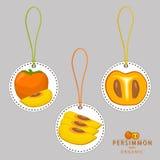 Cachi giallo della frutta illustrazione di stock