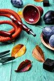 Cachimba con el aroma de ciruelos Foto de archivo
