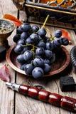 Cachimba con las uvas del aroma Fotografía de archivo