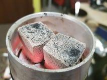 Cachimba del carbón de leña imagen de archivo