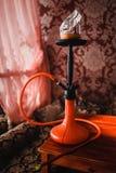 Cachimba roja y negra Imagen de archivo libre de regalías