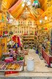 Cachimbas en venta en el cuarto musulmán de la ciudad vieja de Jerusalén, Israel fotos de archivo
