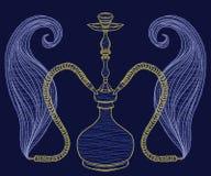 Cachimbo de água e fumo ilustração stock