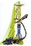 Cachimbo de água e uva Imagem de Stock