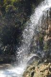 Cachoeira áspera do rio da montanha Fotos de Stock Royalty Free