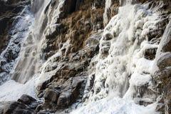 Cachoeira Acquafraggia igualmente Acqua Fraggia na província de Sondrio em Lombardy, Itália norte Imagem de Stock