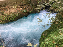 A cachoeira ajardina o fundo Foto de Stock Royalty Free