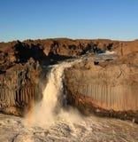 Cachoeira Aldeyjarfoss Imagens de Stock
