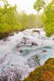 Cachoeira ao longo do Aurlandsfjellet Noruega Imagem de Stock Royalty Free