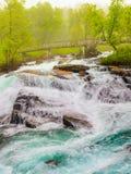 Cachoeira ao longo do Aurlandsfjellet Noruega Fotografia de Stock