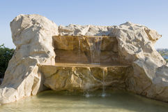 Cachoeira artificial Imagem de Stock