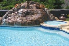 Cachoeira artificial foto de stock
