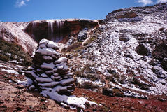 Cachoeira assustado na escala de Gongga Foto de Stock