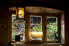 Cachoeira através de uma janela Fotografia de Stock Royalty Free