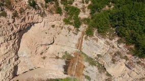 Cachoeira Azerbaijão de Afurja Tiro regional de Dron filme