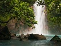 Cachoeira azul celestial imagem de stock