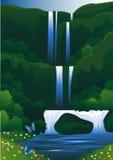 Cachoeira bonita Fotografia de Stock Royalty Free