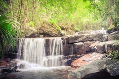 Cachoeira bonita de Suoi Tranh em Phu Quoc, Vietname fotografia de stock